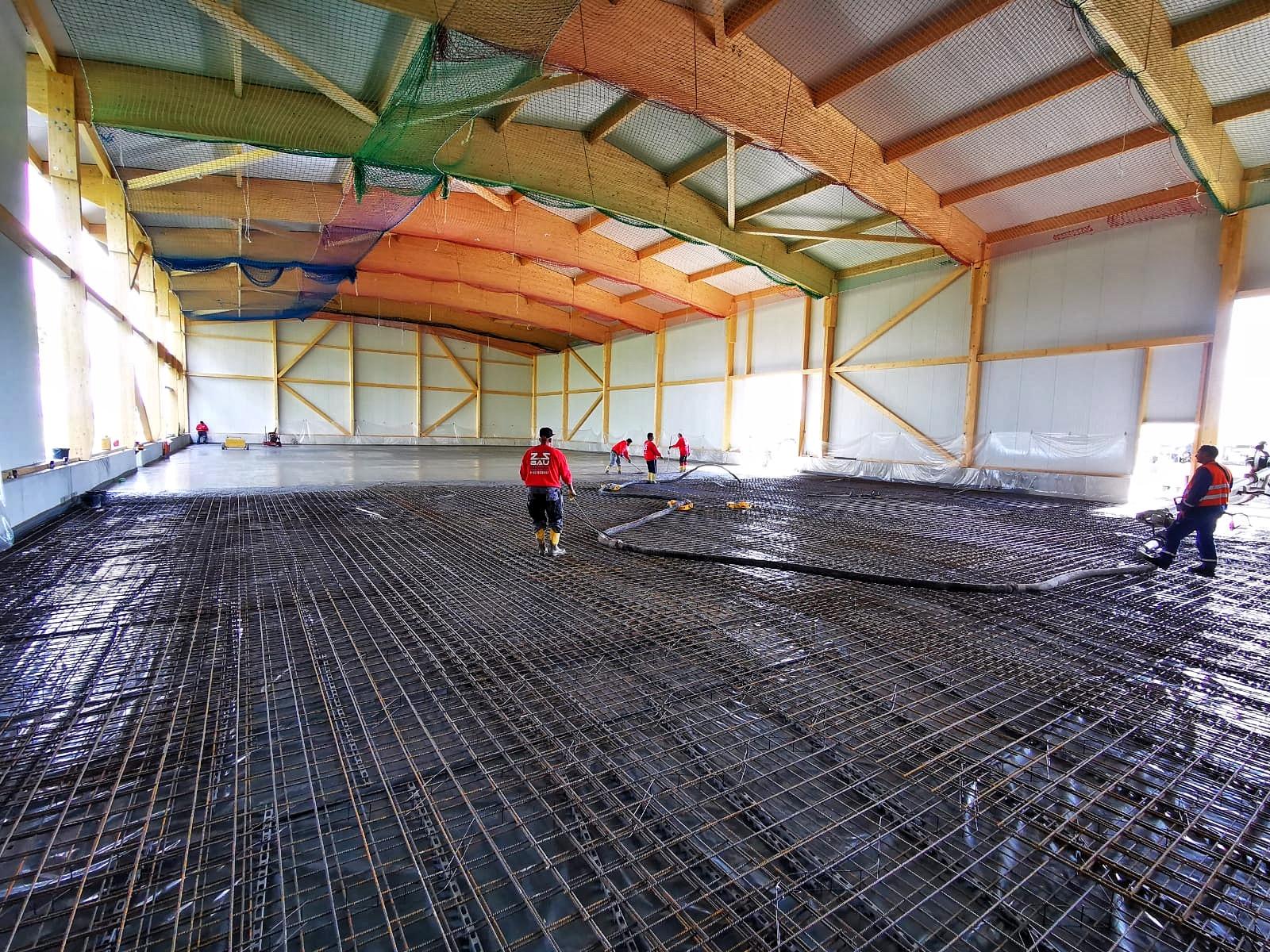 Mattenbewehrte Bodenplatte als Komplettsystem